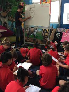 Dr Cameron Stelzer Author And Illustrator Visit Leeming Primary